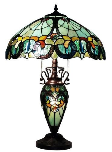 Tiffany Style Floral Table Lamp Lighted Base Table Lamp Tiffany Style Table Lamps Tiffany Style Lamp