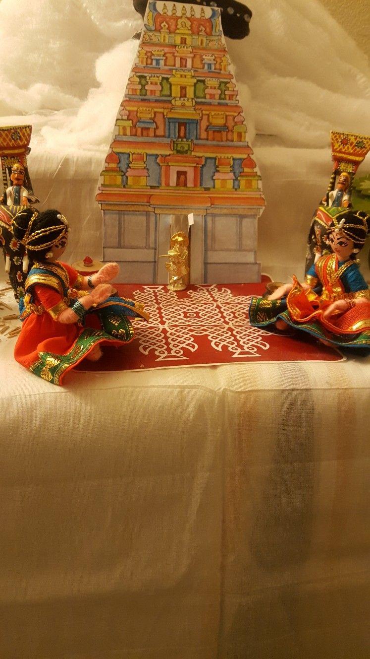 Golu srirangam kovil ganapati decoration fun diy