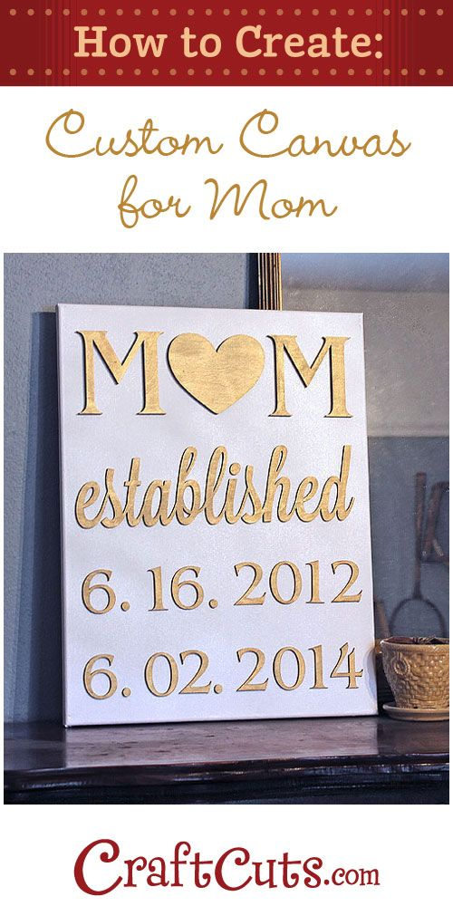 How to Make a Birthdate Canvas for Mom - DIY | Kind