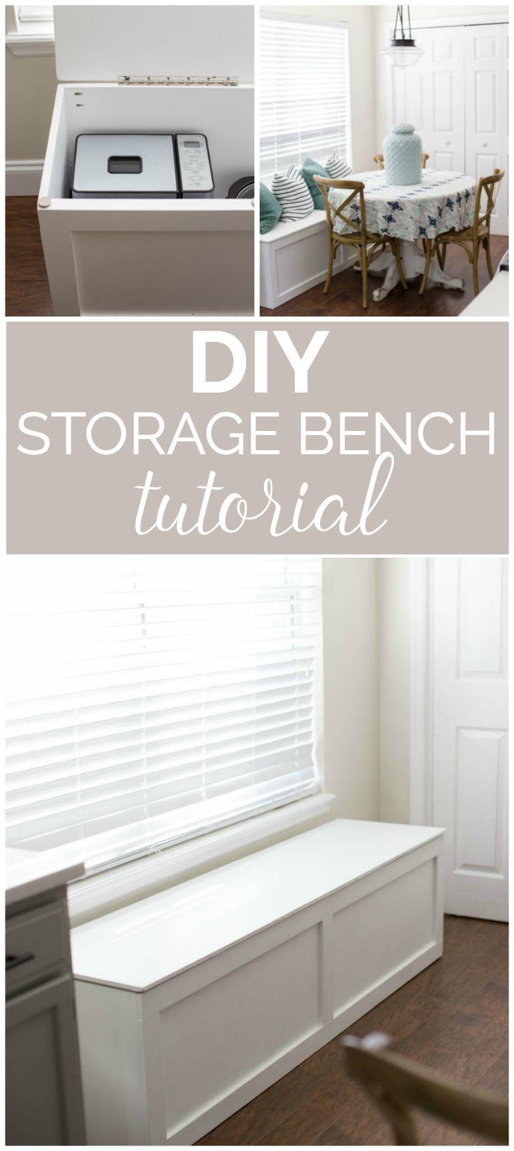 Diy storage bench seat plans diy storage bench window