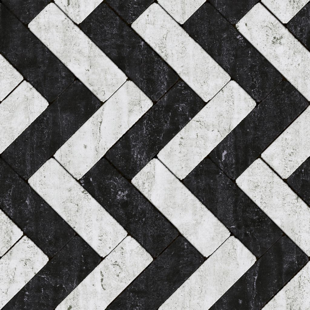 Seamless marble black & white tile pattern texture 1024px