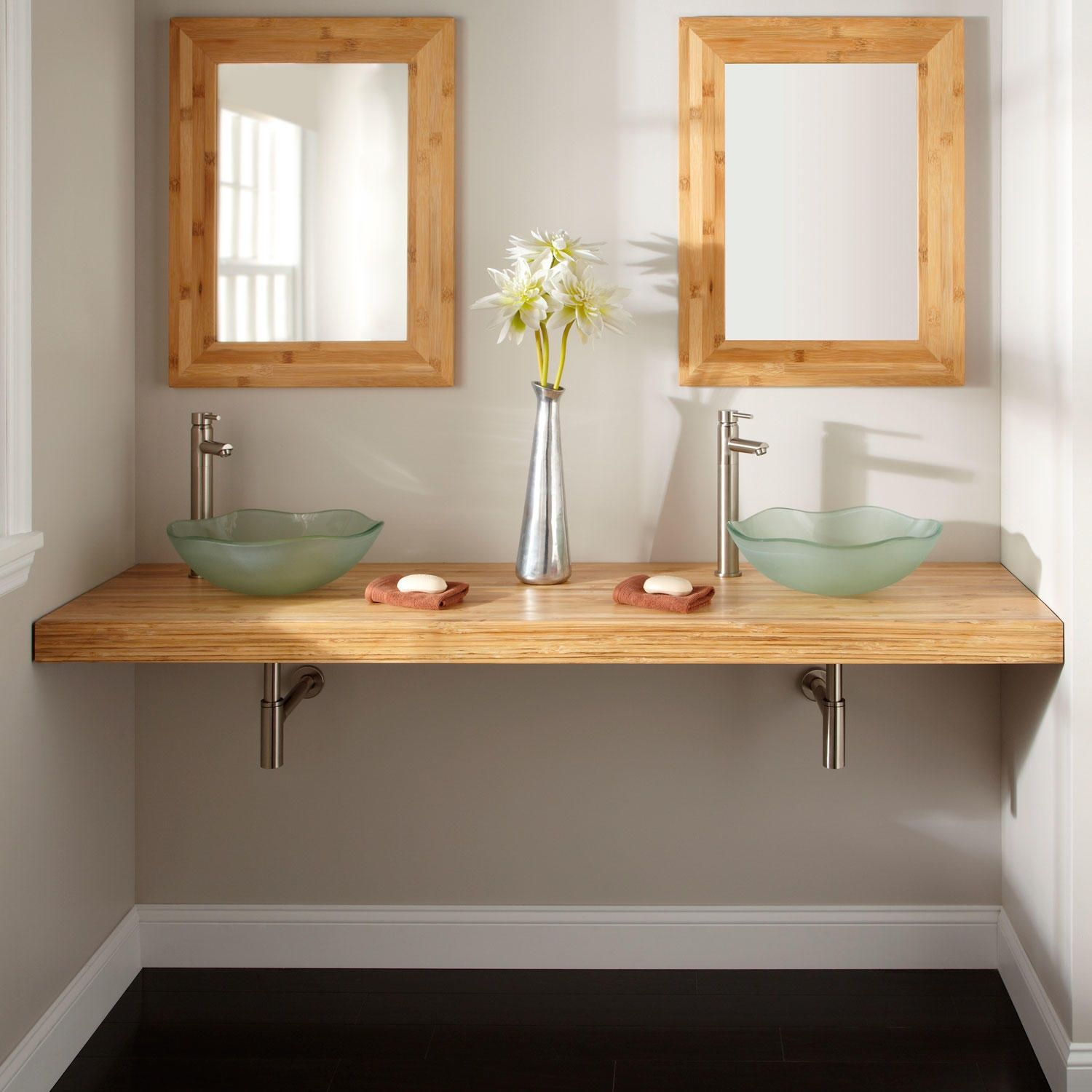 Custom Bathroom Vanities Michigan diy-custom-floating-bathroom-vanity-design-in-solid-natural-bamboo