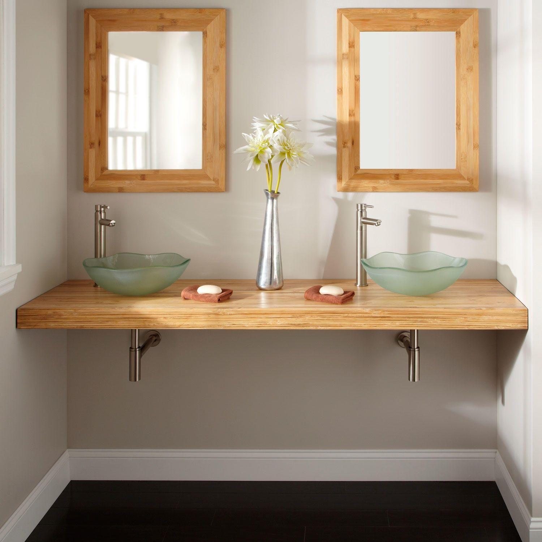 diy-custom-floating-bathroom-vanity-design-in-solid-natural-bamboo ...