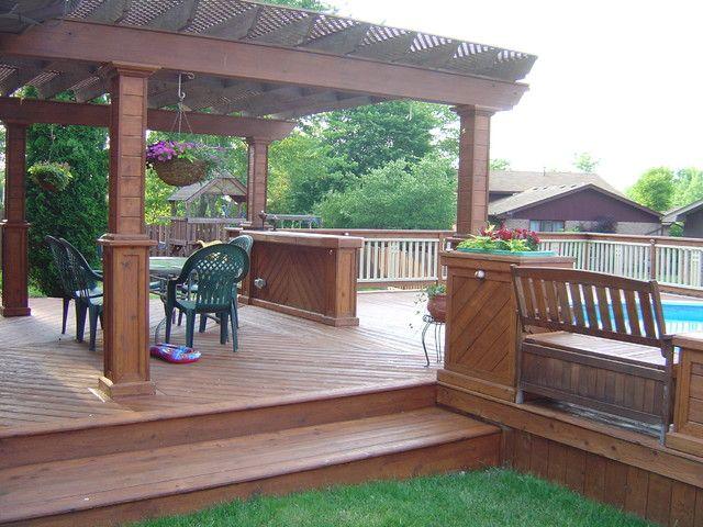 backyard deck ideas - Google Search | Backyard pool ...