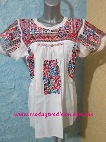 Blusa Bordada Y Deshilada A Mano Mexicana - $ 2,579.00 en MercadoLibre