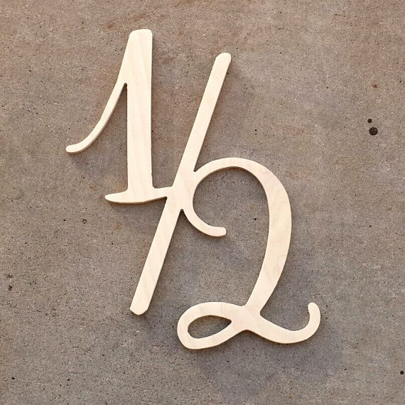 Cute Script Half Wooden Sign 12 Symbol Photo By Shedhuntingbabez