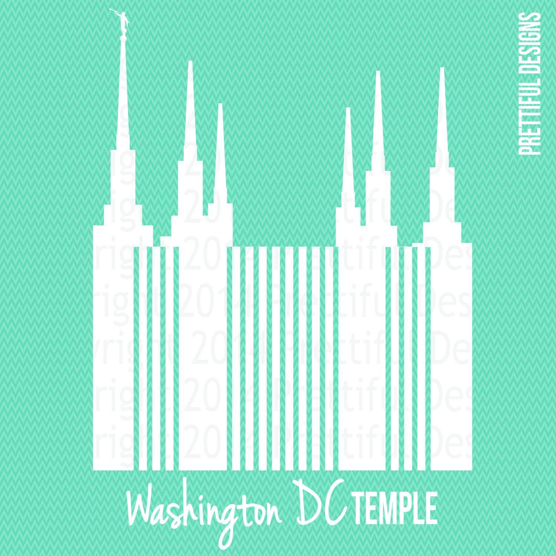 washington dc temple lds mormon clip art silhouette png eps svg vector