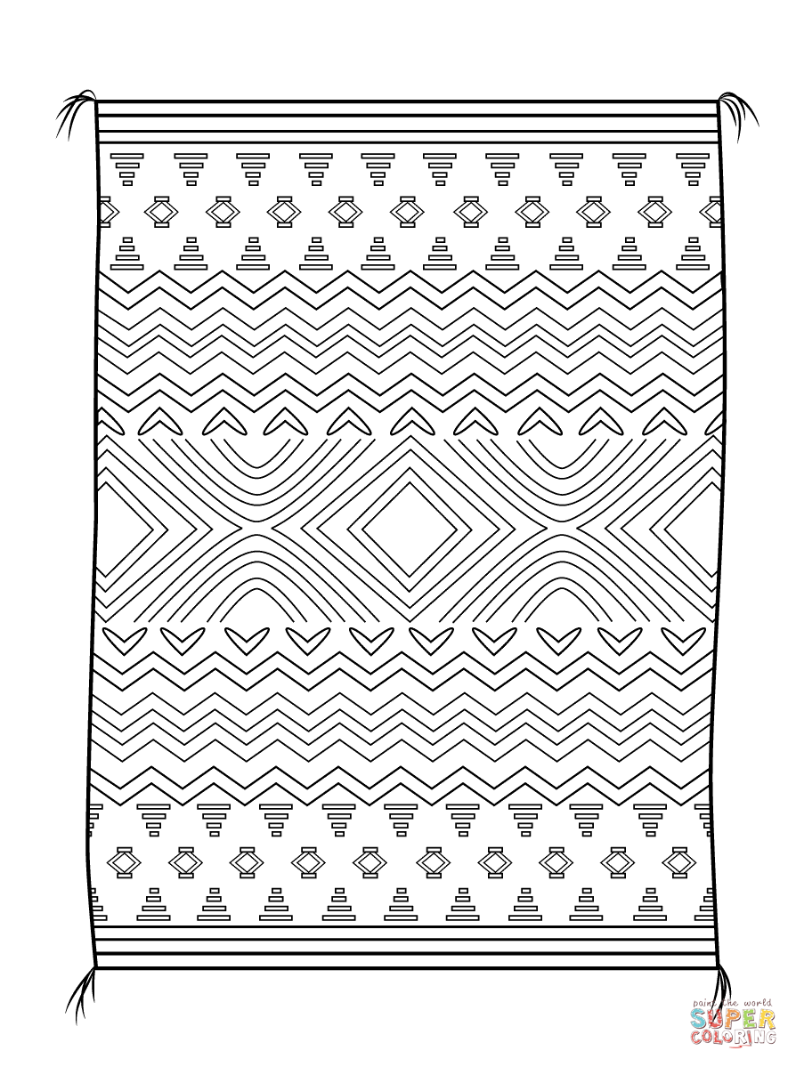 Navajo Blanket Free Printable Coloring Pages Printable Coloring Pages Coloring Pages