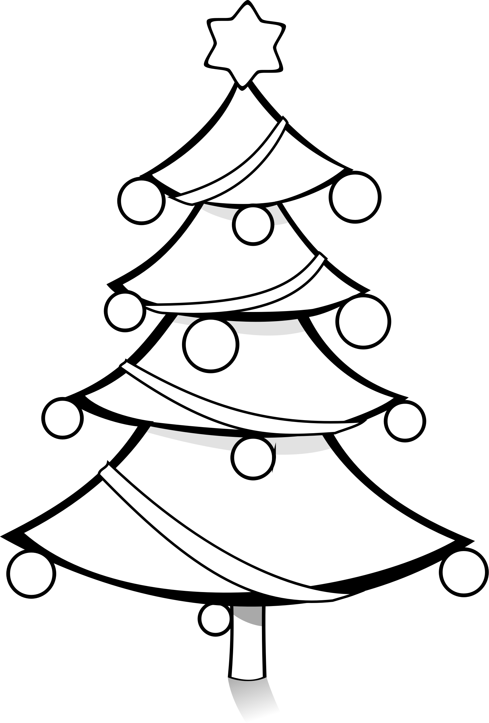 Christmas Tree Coloring Page By Pianobrad A Christmas