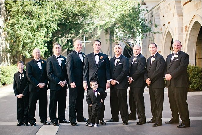 Black Suits for Groomsmen ~ ~ Photo: Love, The Nelsons