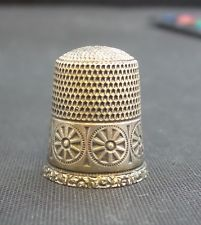 Vintage Simon Brothers STERLING Silver Thimble NICE