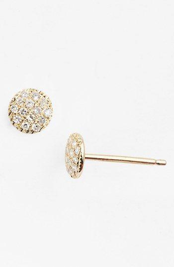 Dana Rebecca Designs Lauren Joy Diamond Disc Stud Earrings Nordstrom