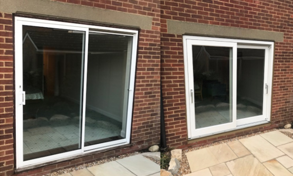 New European Redwood Patio Doors Fitted In Southampton. The New Doors Are  Farrow U0026 Ball