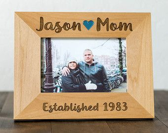 Gift For Mom From Son Or Daughter 4x6 Custom Engraved Wood Picture