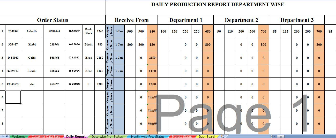 Production Schedule Template  Excel Temp    Schedule