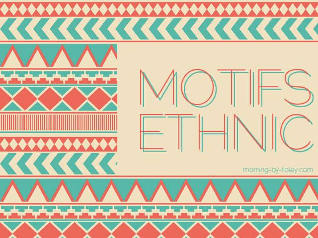 motifs ethnic chic chic ethnique maskin tape et tapas. Black Bedroom Furniture Sets. Home Design Ideas