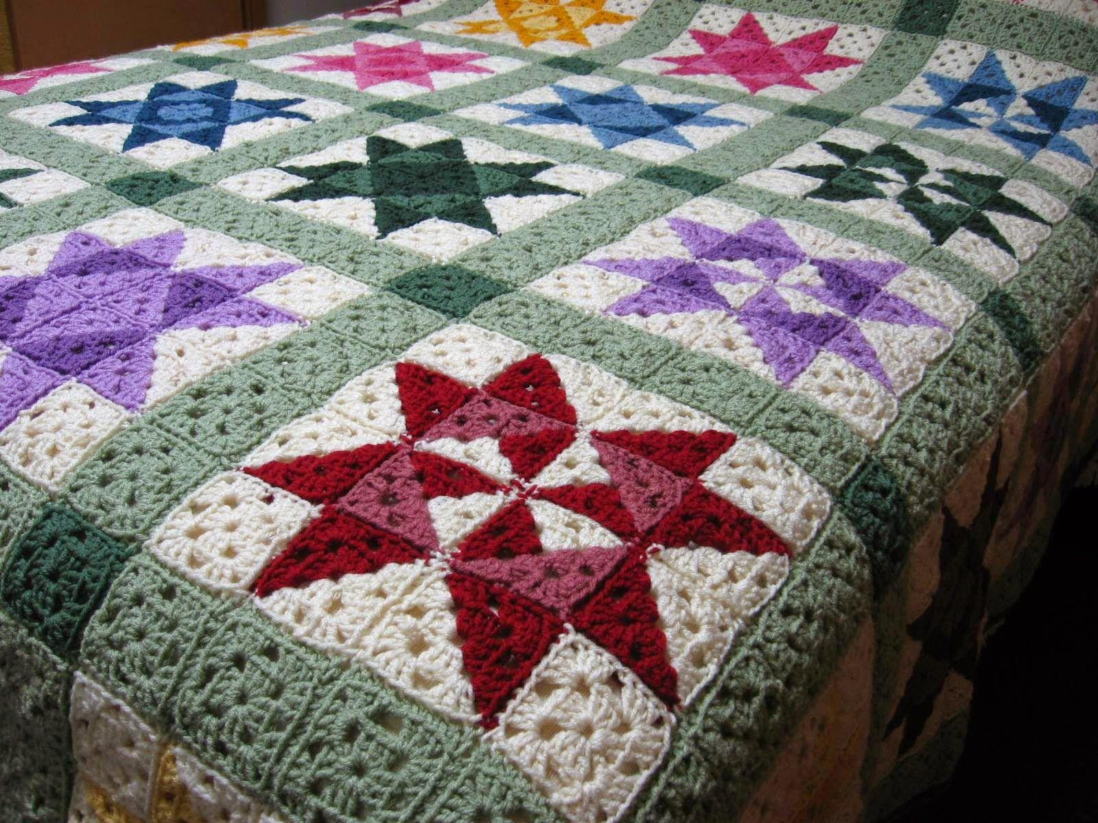 Fatti a mano: coperta stella - star afghan | CROCHET | Pinterest ...
