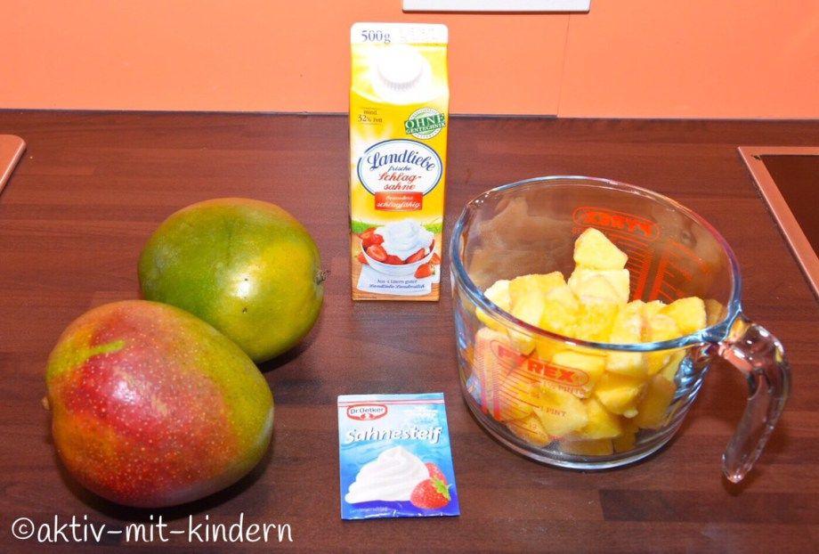 fruchtiges ananas mango dessert holt euch den sommer ins