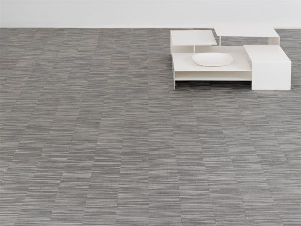 CHILEWICH CONTRACT COLLECTION 2015 2016 | PLYNYL PLANK FLOOR TILES IN PEARL  RIB WEAVE