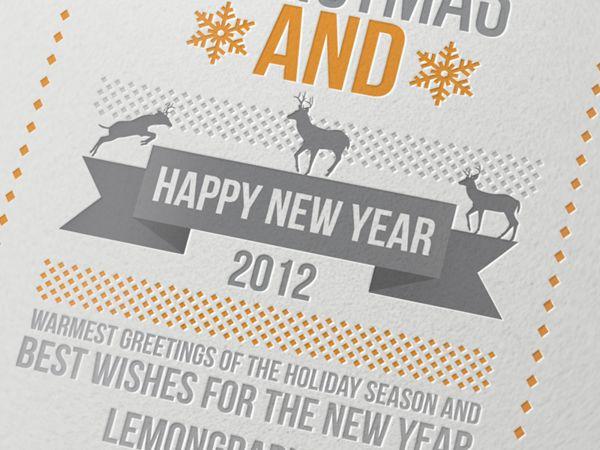 35 remarkable christmas postcard designs print24 newsblog merry christmas a happy new year 2012 by lemongraphic diamond pattern reheart Choice Image