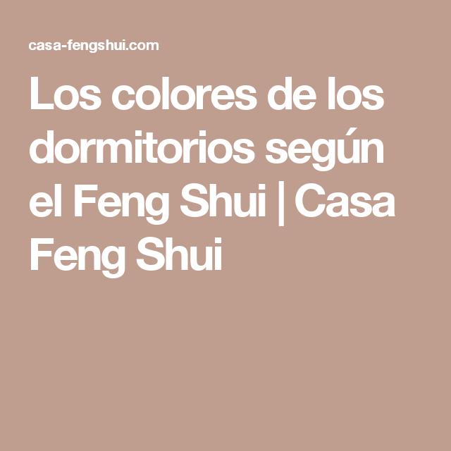 Los colores de los dormitorios según el Feng Shui | Casa Feng Shui ...