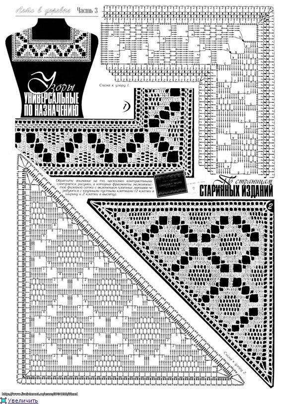 patrón universal para el ganchillo solomillo   tejidos   Pinterest ...