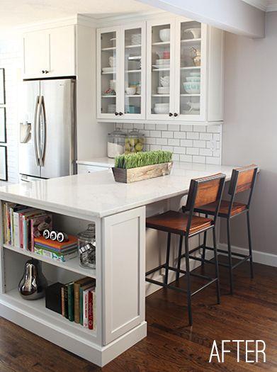Room Decorating Before and After Makeovers Cocinas, Estanterías y - modelos de cocinas