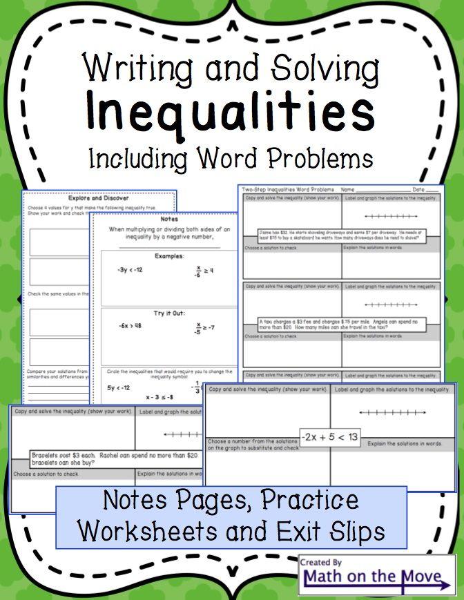 40 7th Grade Inequalities Ideas Inequality Middle School Math Teaching Math
