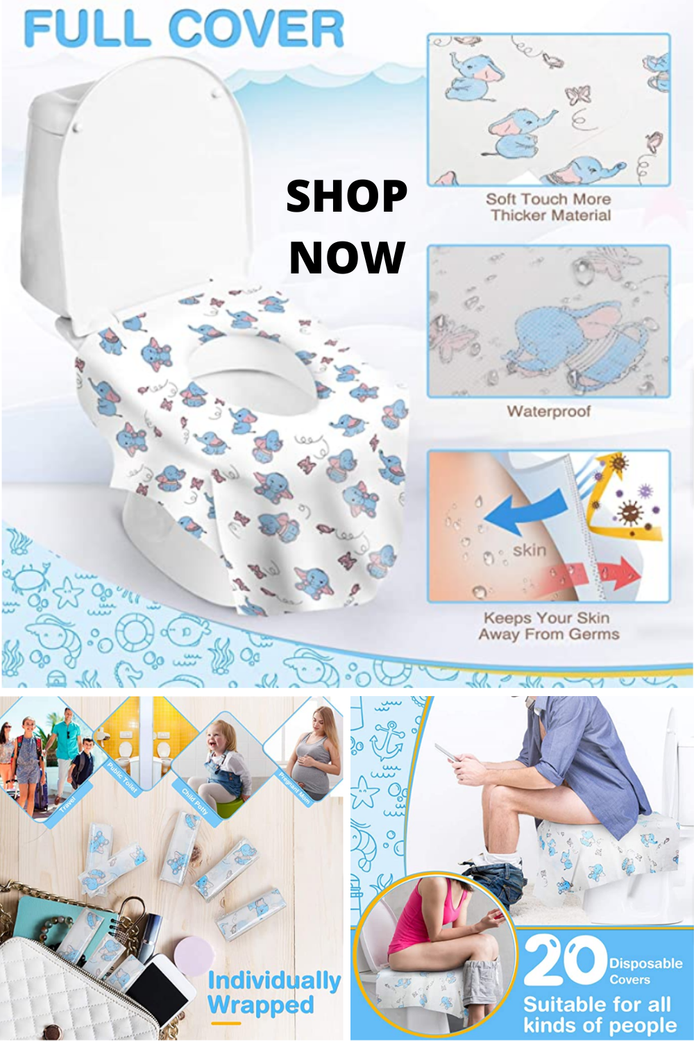No More Germs The Disposable Toilet Seat Covers Keep Adults And
