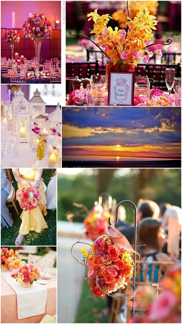 Sunset Wedding Colors Likes The Lanterns