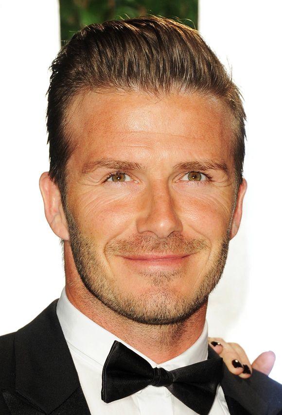 David Beckham Slicked Back Hair