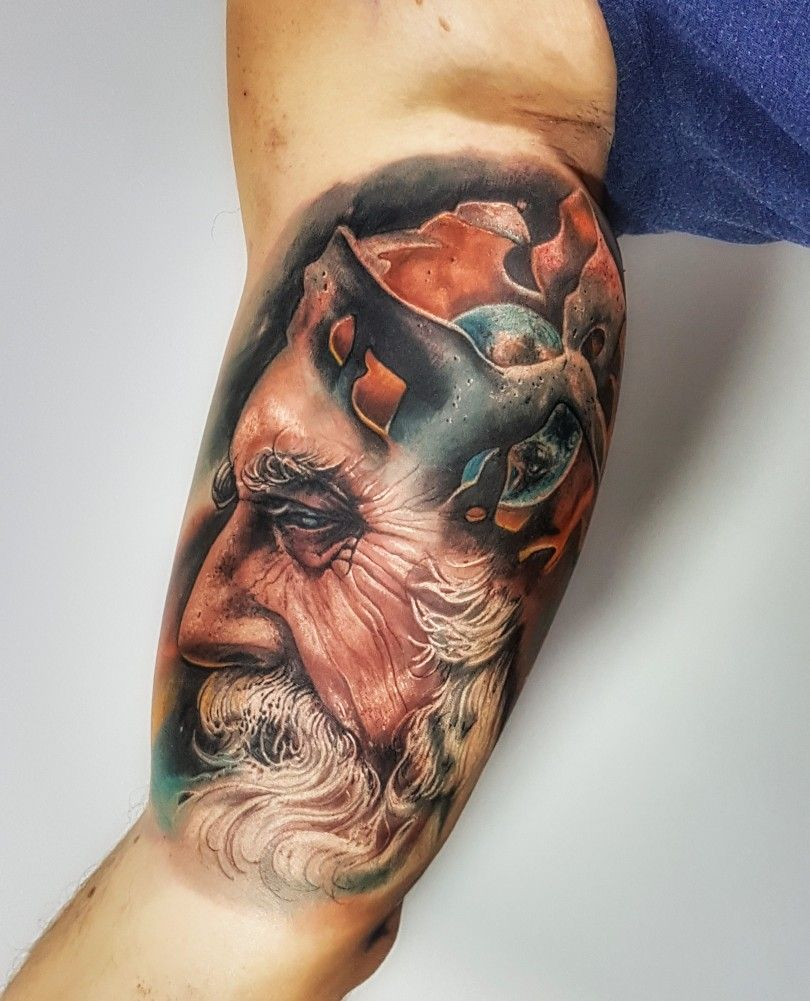 Tatouage Interieur Biceps dedans inner bicep tattoo, god, old man, universe, experience | inner bicep