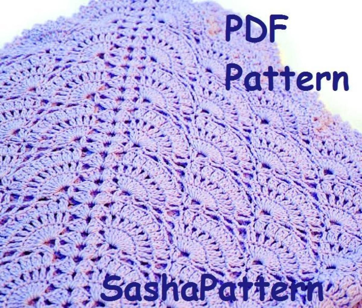 Crochet lace shell baby blanket pattern