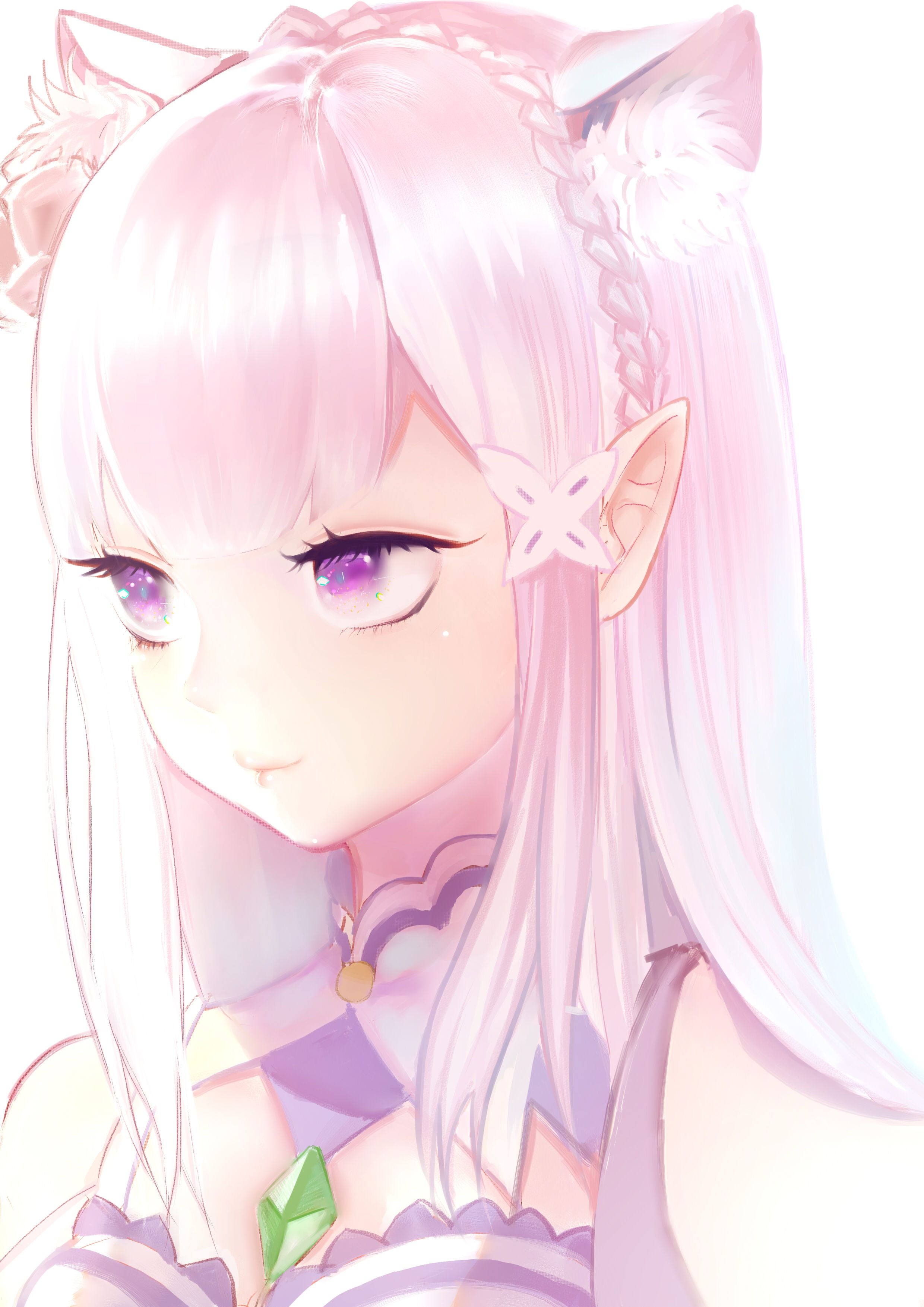 Neko Emilia kawaii Emilia Pinterest Kara, Anime and