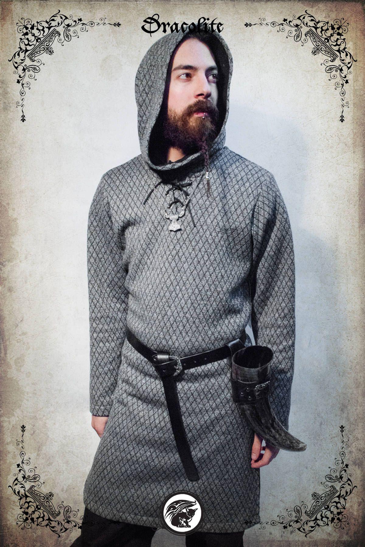 viking tunic,medieval tunic,viking clothing men,viking archer,hunter shirt,medieval dress,celtic dragon,folk,tribal tunic,celtic,linen