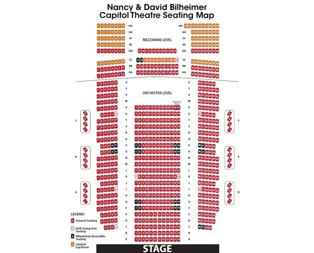 Guthrie Seating Chart In 2020 Seating Charts Chart Guthrie