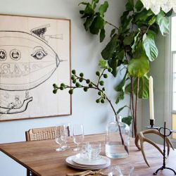 A whimsy dining room