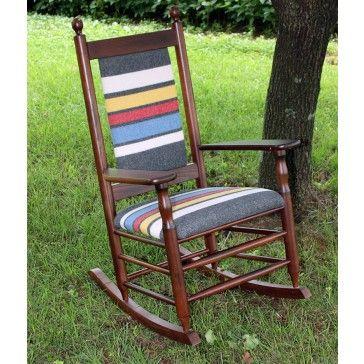 Nice Woolrich Blanket Furniture Rocking Chair Iu0027d Paint The Wood Grey