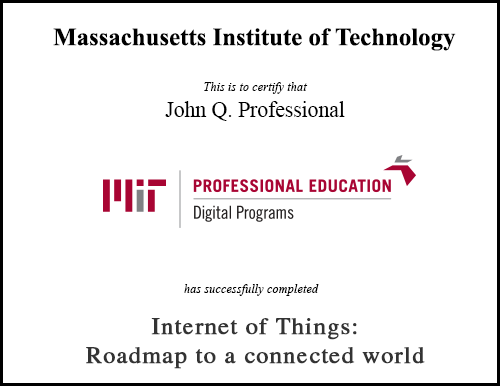 Internet Of Things Roadmap To A Connected World Massachusetts Institute Of Technology Roadmap Internet