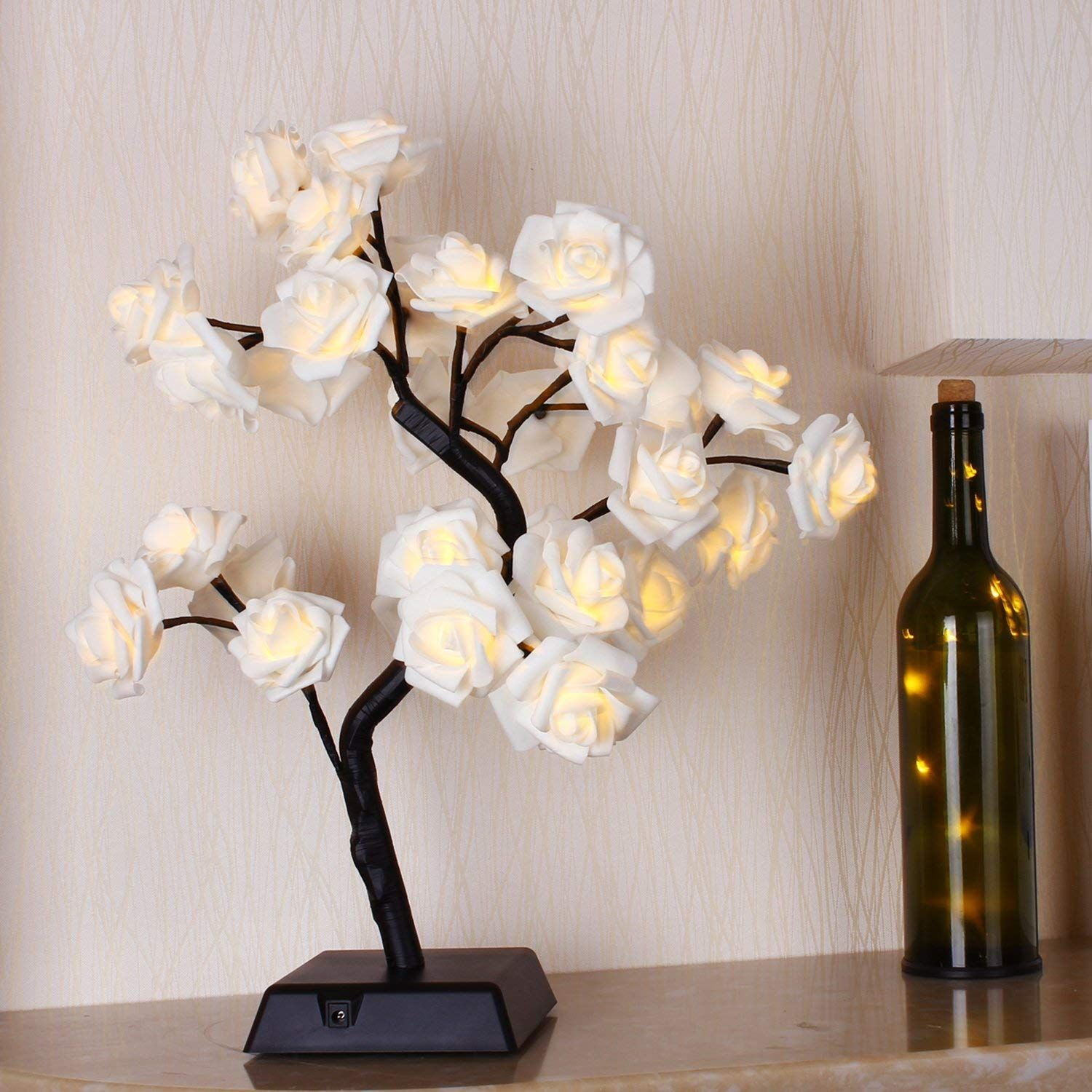 Bolylight Rose Flower Lamp Night Light Centerpiece Table Lamp 17 71 Inch 32l Home Decor For Valentine S Day Par Lighted Centerpieces Flower Lamp Led Table Lamp