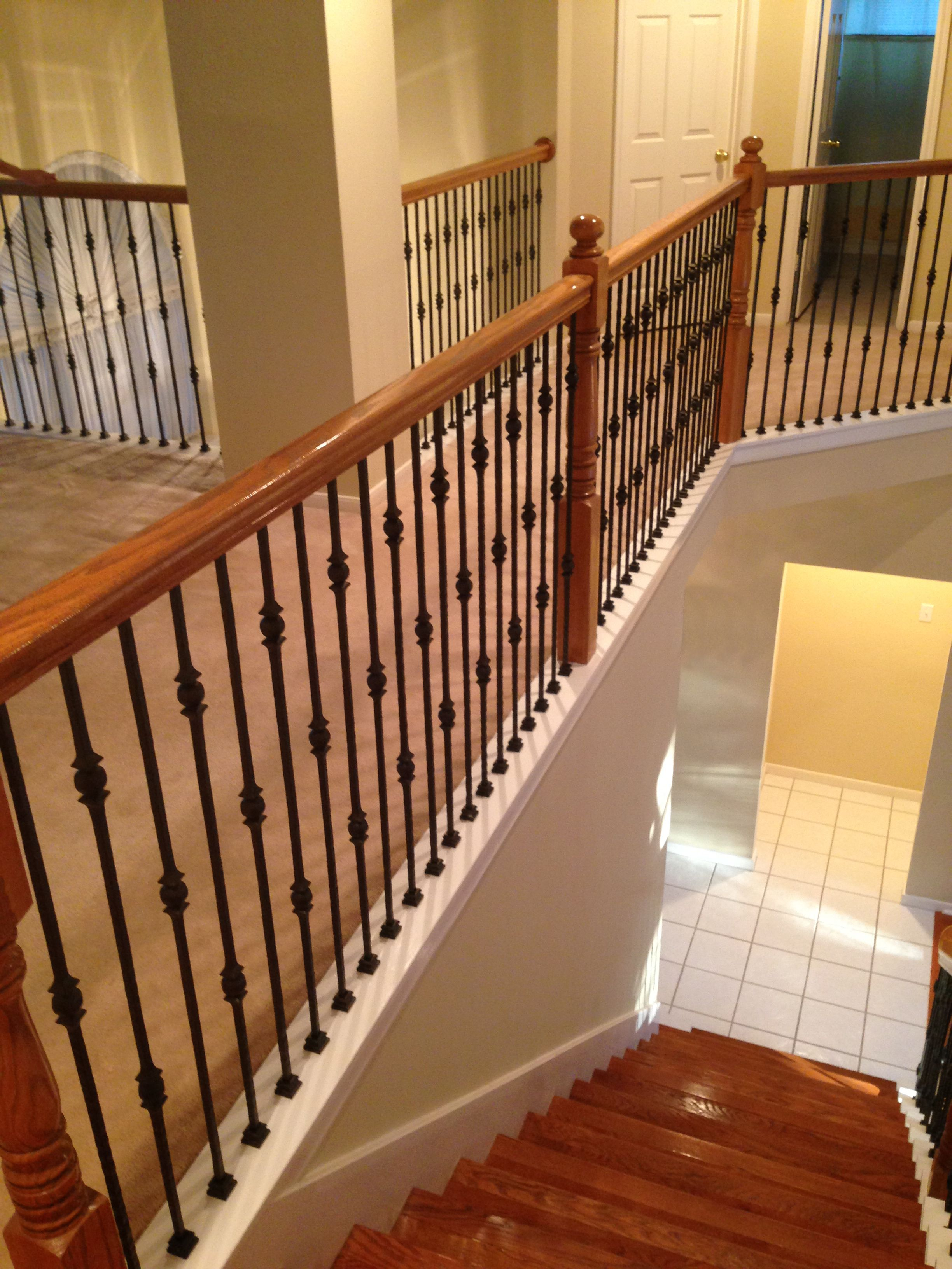 At the Goodwin s Houston home we did a full baluster change out and