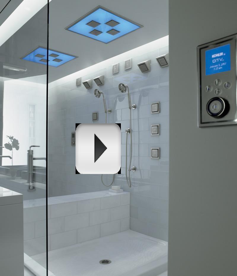 My Shower...Multi shower-heads, ceiling & sides. Kohler DTV-II ...
