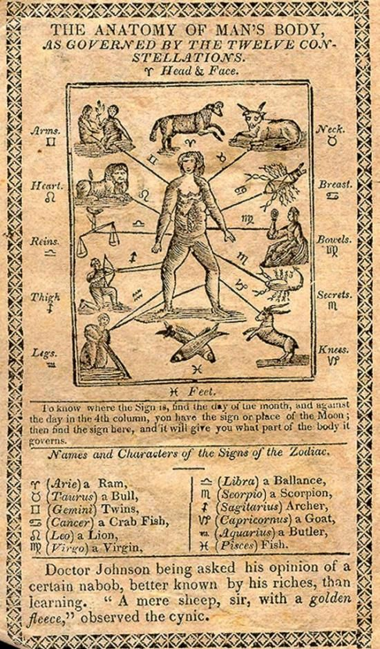 Astrology The Anatomy Of Mans Body As Governed By The Twelve