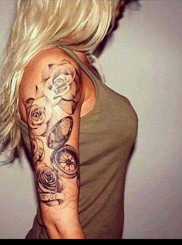 pin von celina becker auf tattoos tatuajes de rosas. Black Bedroom Furniture Sets. Home Design Ideas