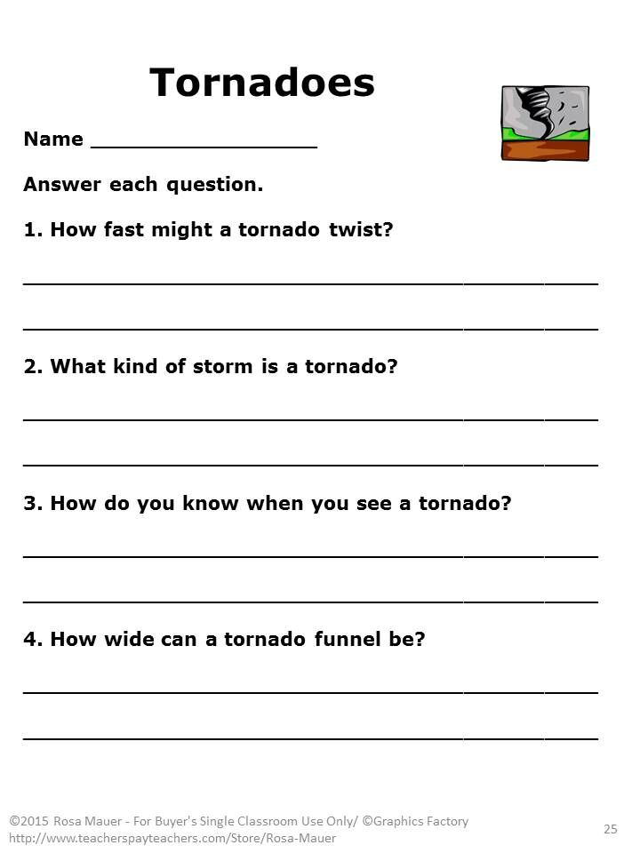 Do Tornadoes Really Twist Tornado Activities Task Cards Weather Worksheets Weather Worksheets Science Task Cards Comprehension Activities Tornado worksheets for kids