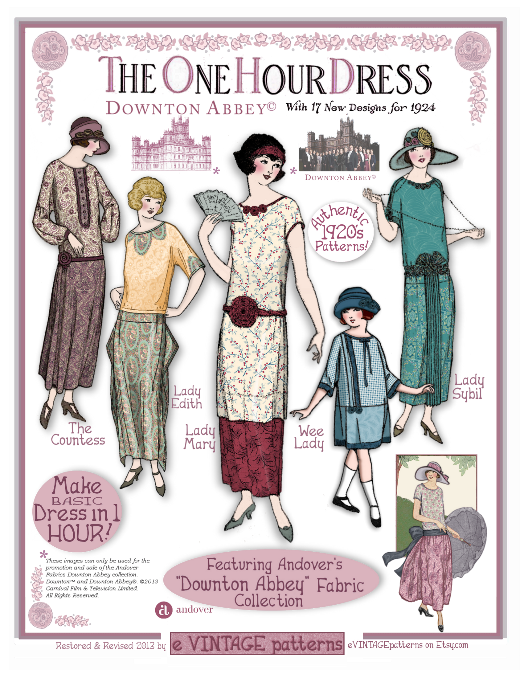 Our Downton Abbey fabrics will be available in stores in just a ...