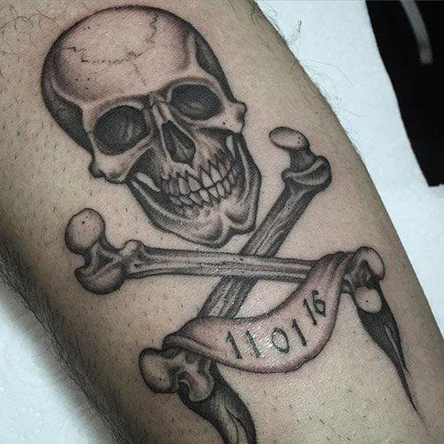 101 Best Skull Tattoos For Men Cool Designs Ideas 2019 Guide Skull Tattoos Skull Tattoo Design Simple Tattoos For Guys