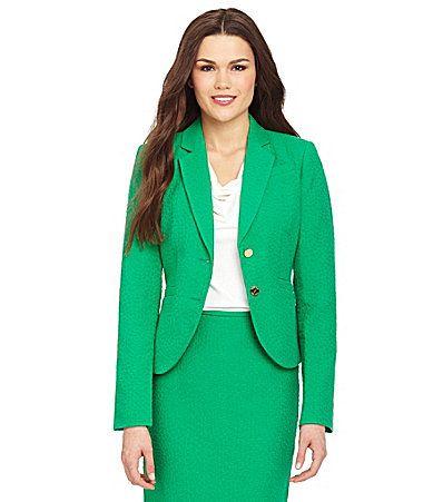 Calvin Klein 2Button Jacquard Jacket #Dillards