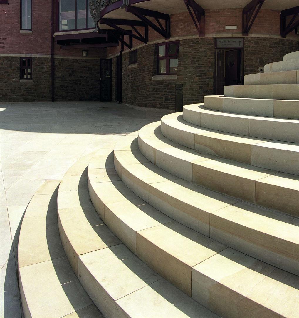 Scoutmoor Yorkstone steps