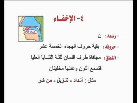 تبسيط أحكام التجويد النون الساكنة والتنوين 04 Islam Facts Arabic Quotes With Translation Tajweed Quran